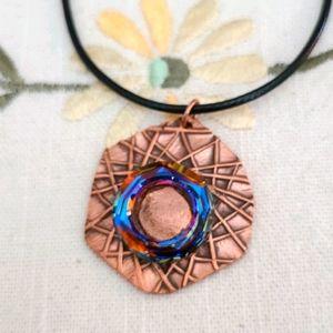 PMC Copper with Swarovski Crystal